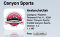 Canyon Sports Avalanch Utah