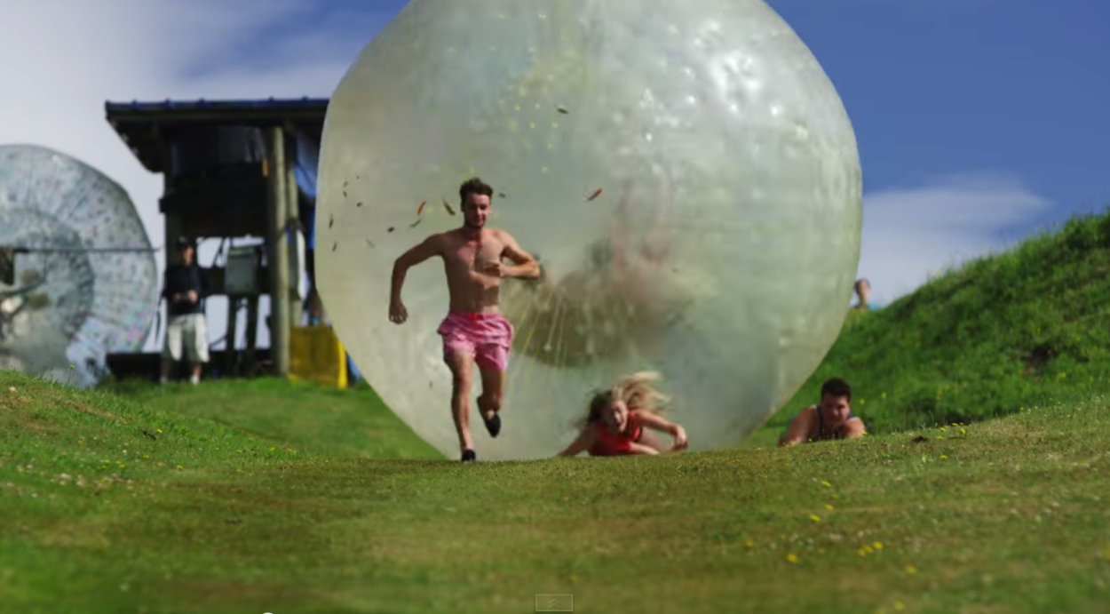 Could You Outrun The Giant Inflatable Orb? | The GearCaster